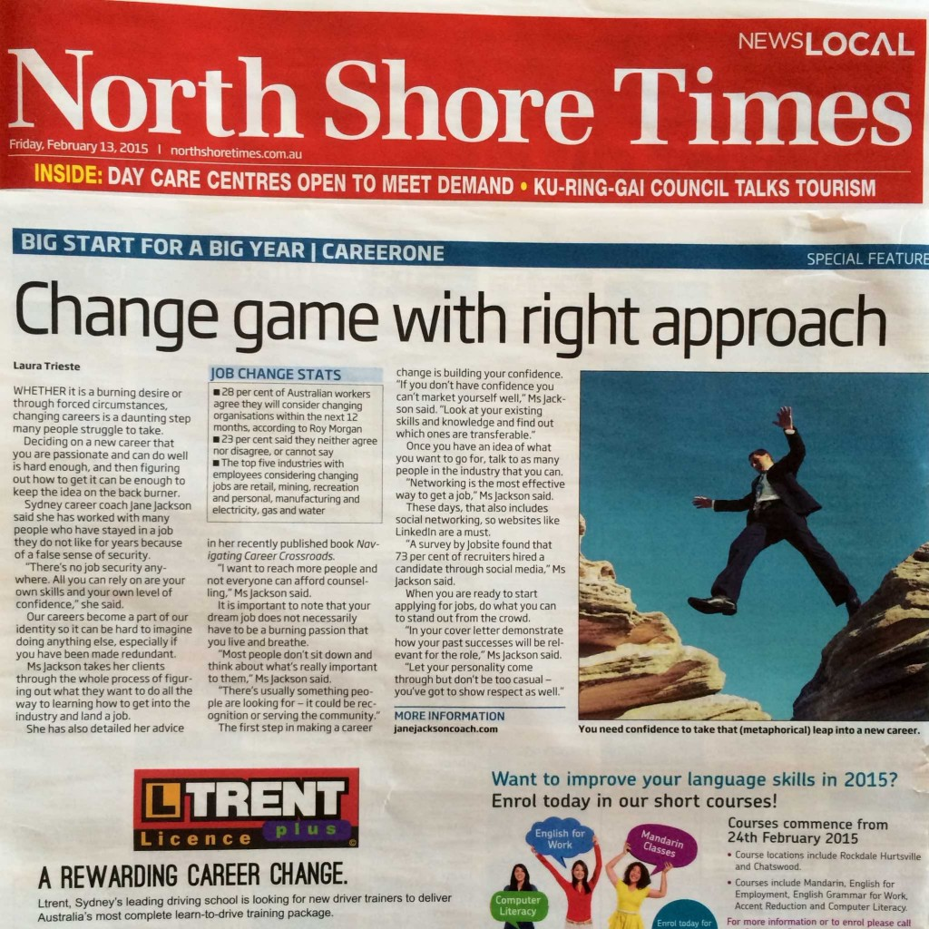 North Shore Times, Jane Jackson Coach, Careers, Media