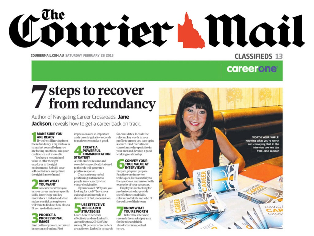 careerone, courier mail, jane jackson, careers, redundancy
