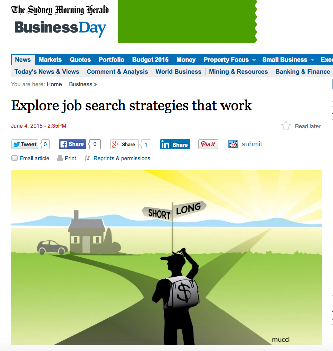 Jane Jackson, The Sydney Morning Herald, job search