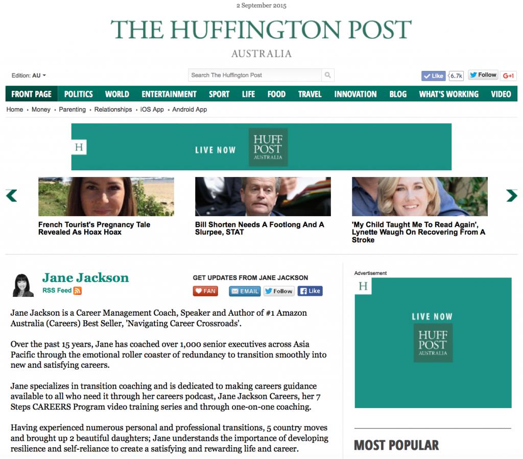 Jane Jackson, Huffington Post, HuffPost
