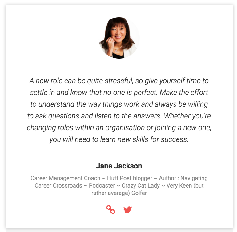 Jane Jackson, Top Career Coach, Career Coach 2017, follow, Twitter, career advice