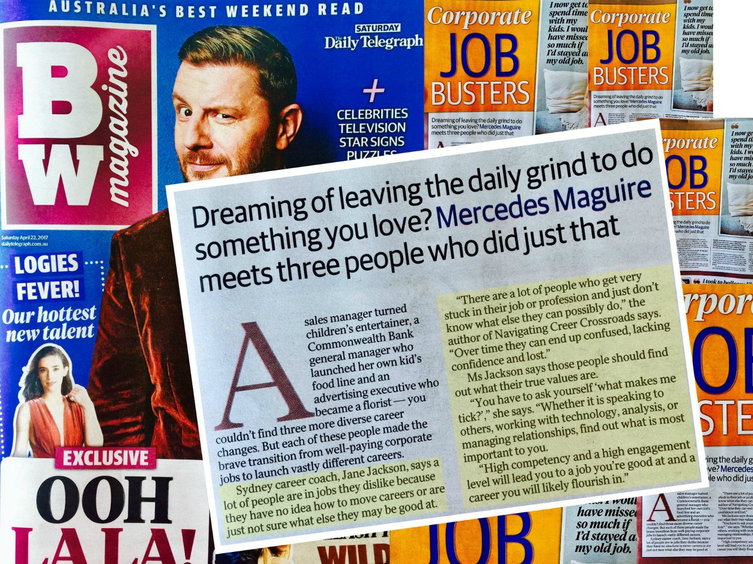 Daily Telegraph, BW Magazine, Jane Jackson, Career Coach, Corporate Job Busters, career, sydney, australia