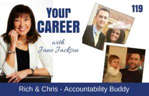 Accountability Buddy, Richard Blakemore, Chris Targett, Jane Jackson, career coach, Jane Jackson Careers, podcast, careers