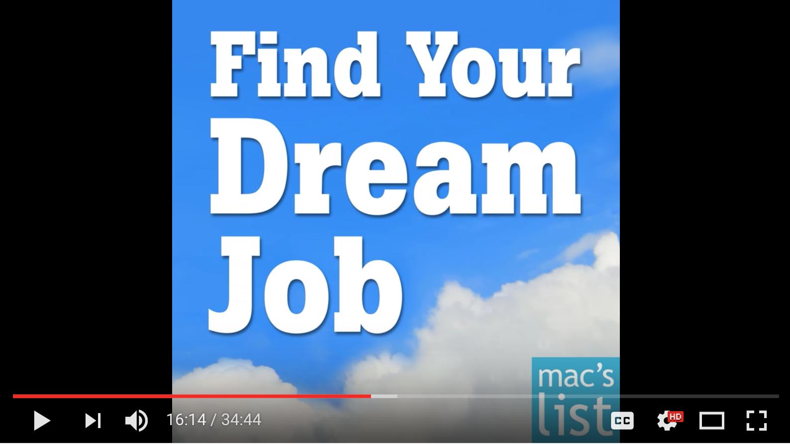 Dream Job, Find Your Dream Job, podcast, Jane Jackson, career, career coach, Sydney, Australia, Singapore, London, job
