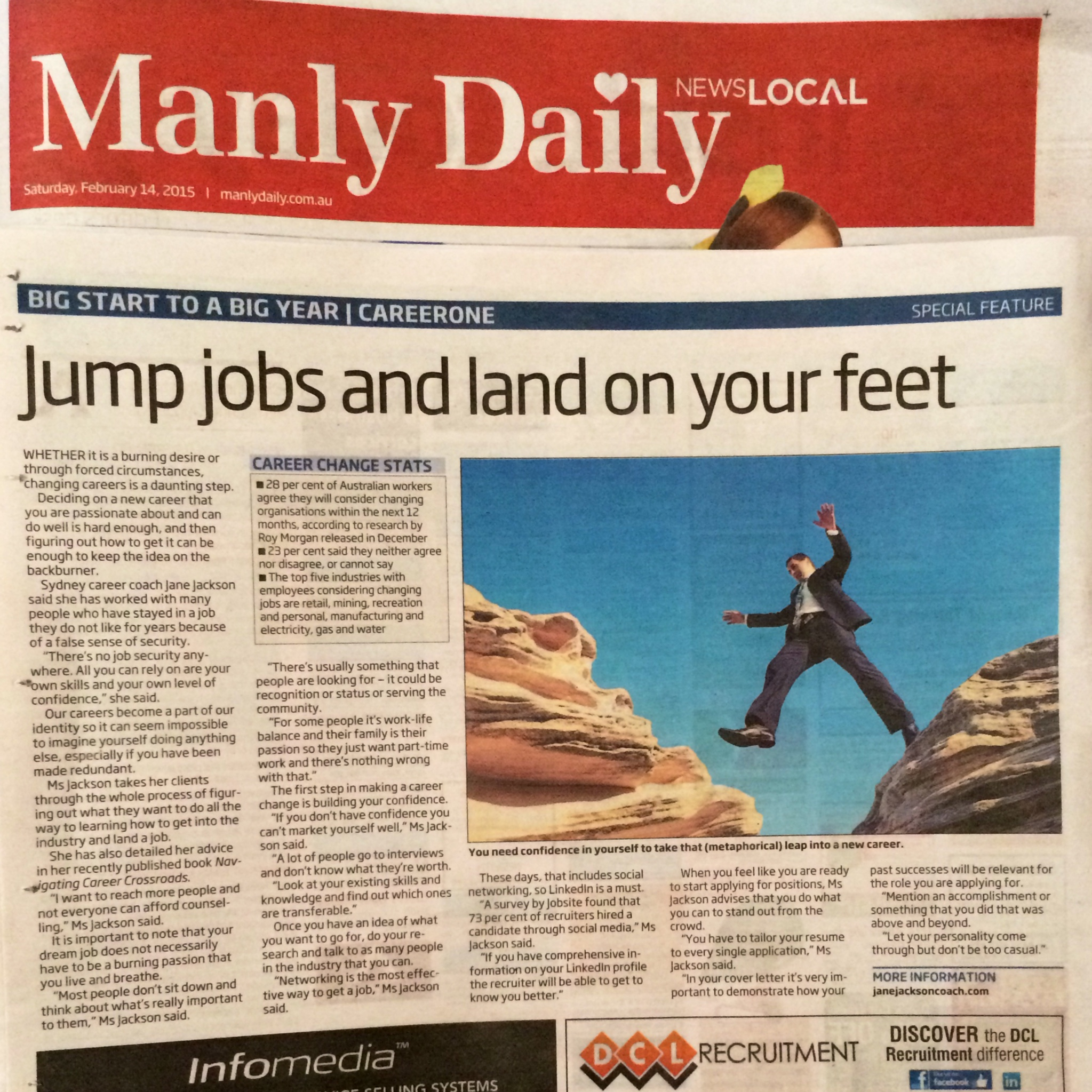 Manly Daily, News Local, Jane Jackson, Careers, Career Tips