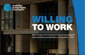 Willing to Work, Australian Human Rights Commission, Discrimination agains Older Workers