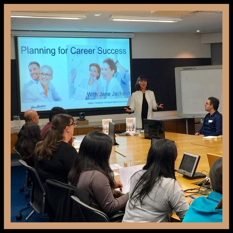 Jane Jackson, career workshops