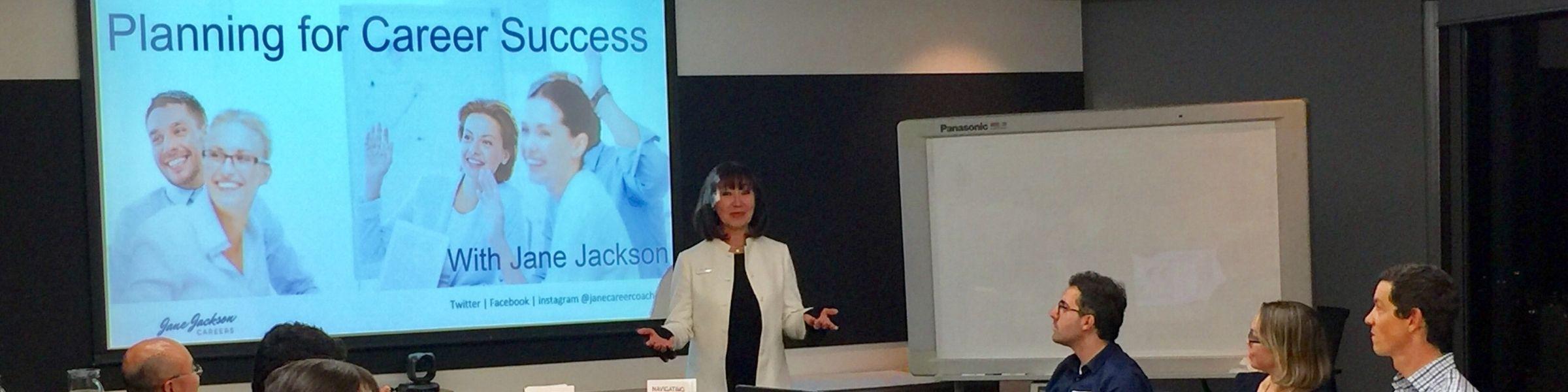 JANE JACKSON, group workshops, trainer, facilitator, career coach