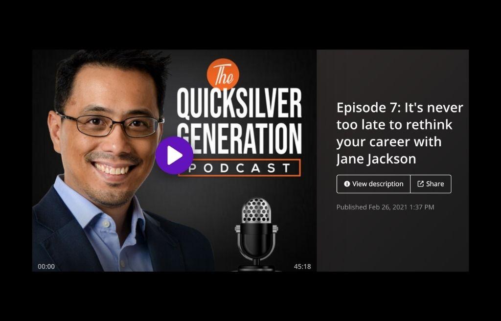 quicksilver generation, jane jackson, podcast, career coach, australia career coach, career counsellor, Sydney